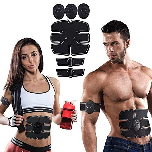 EMS Abs Trainer Muskelstimulator für Männer und Frauen Training zu Hause Bauchmuskelstimulator Fitness Trainingsausrüstung Tragbarer Muskeltrainer Unisex Gürtel für das Training zu Hause und im Büro