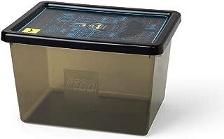 Batman 4094 Caja Grande de Almacenamiento de Lego 18 l, Apilable, Negro Transparente, PP, Black, 37.8 x 29.7 x 23.5 cm