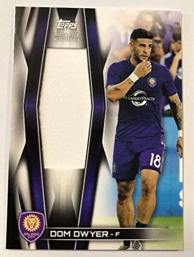 2018 Topps MLS Soccer Jumbo Relics #JR-DD Dom Dwyer Jersey/Relic Orlando City