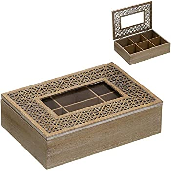 Home Gadgets Caja Te Almacenaje Infusiones 4 Departamentos 18 cm ...