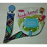 Binkiband (ビンキーバンド) おしゃぶりバンド Navy Plaid(ネイビープラッド柄) アメリカで大人気 セレブ御用達