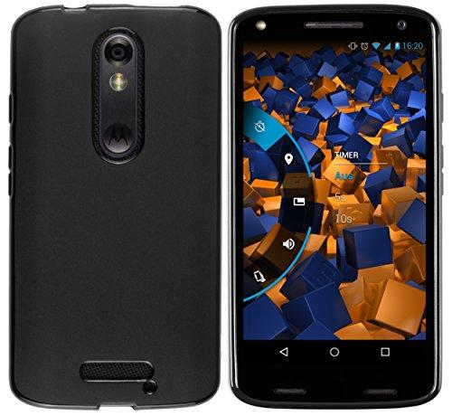 mumbi Hülle kompatibel mit Motorola Moto X Force Handy Case Handyhülle, schwarz