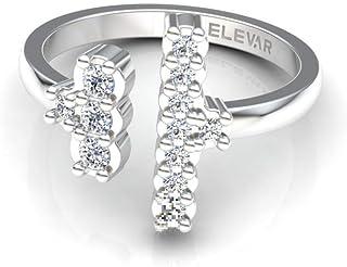 14K White gold diamonds ring