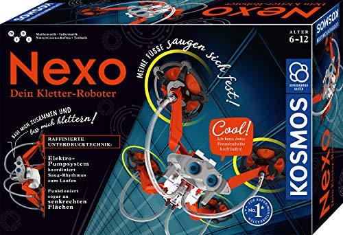 KOSMOS - Nexo - Dein Kletter-Roboter, läuft Fensterscheiben hoch, Roboter Spielzeug fürs Kinderzimmer, einfach schnell zusammenbauen, mit Elektro-Pumpsystem, Experimentierkasten für Kinder ab 6 - 12