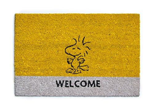Excelsa Peanuts Zerbino Ingresso Woodstock, Fibra di Cocco, Giallo, 40 x 60 cm
