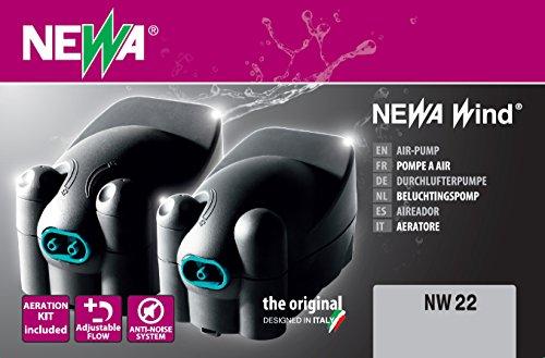 Newa Pompe à Air Newair NW22 avec Accessoires Aquariophilie