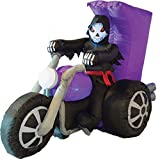 Zauberparty Halloween Dekoration aufblasbare Deko Skelett- Motorrad Party, 1 Stück, 220cm,...