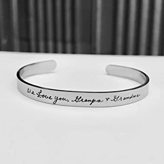 Handwriting jewelry, handwritten, personalized bracelet, signature gift, Custom handwriting bracelet, mom gifts, grandma, remembrance
