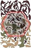 Tactical Penguin Woodland camo Stencil for cerakote, gunkote, duracoat Avery Paint mask Sticky Back Vinyl