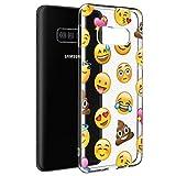 Pnakqil Coque Samsung Galaxy S5 Mini, Etui en Silicone 3D Transparente avec Motif Dessin Antichoc TPU Housse de Protection Case Cover Bumper Coque pour Téléphone Samsung S5 Mini,-Smiley
