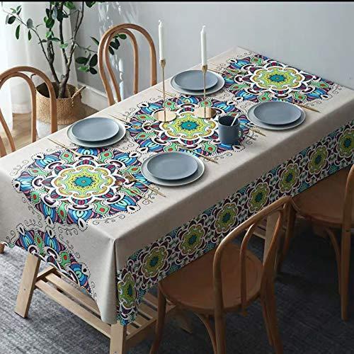 JIALIANG Mantel de lujo impermeable y lavable de PVC, linóleo en varios tonos, 135 x 180 cm