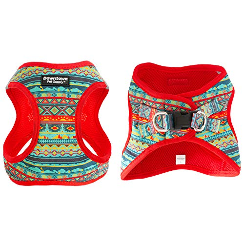 Downtown Pet Supply No Pull, Step in Adjustable Dog Harness with Padded Vest, Easy to Put on Small, Medium and Large Dogs (Tribal, M)