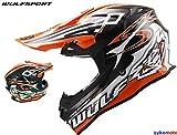 Moto Arancione Casco Wulf Sceptre Adulto ACU Oro Approvato Dirt Bici MX Quad MTB BMX ATV (L (59-60 CM))