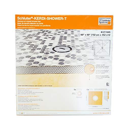 Schluter Kerdi 60-Inch x 60-Inch Center Drain Shower Tray