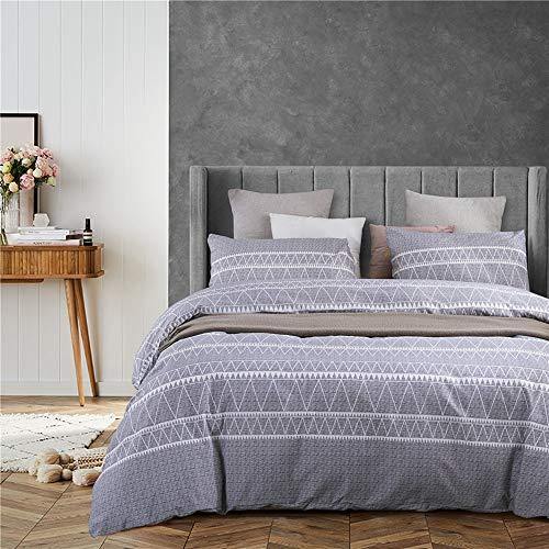 QIAOJIN Juego de ropa de cama de estilo europeo, impresión 3D, 2/3 piezas, microfibra, antialergénico, cómodo, con cremallera, suave y cómodo (a,140 x 210)