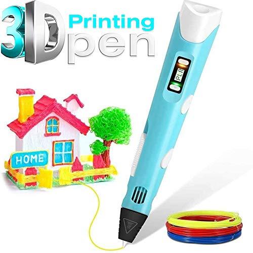 3D-afdrukpen voor kinderen, compatibel met (PLA/ABS) gloeidraad 1,75 mm gloeidraad Snelheid instelbaar beste DIY-cadeau voor knutselen