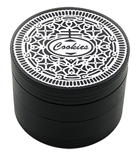 Cookies Laser Etched Design 4pcs Large Size Herb Grinder With FREE Scraper Item # ETCH-G012317-49