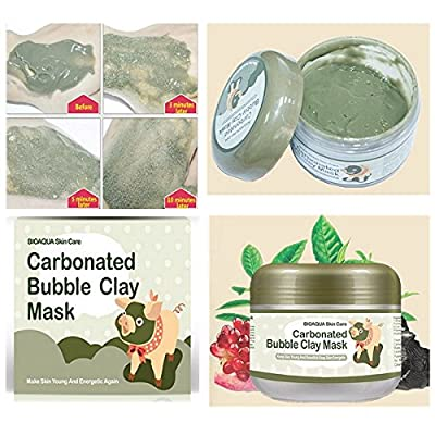 LM Carbonated Bubble Clay Facial Mask Whitening Oxygen Mud Blackhead Remove Acid Pore Cleansing Cleanse by Liannmarketing