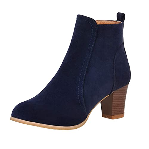 18fca1d31f15 Vitalo Womens Mid Block Heel Faux Suede Zip Up Ankle Boots Ladies Autumn  Winter Shoes