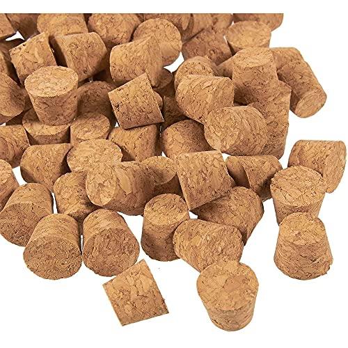 Tapones de corcho pequeños - Paquete de 100 tapones de corcho en miniatura, tapones de corcho para botellas, Tamaño 4 (1,6 cm x 1,2 cm x 1,2 cm)