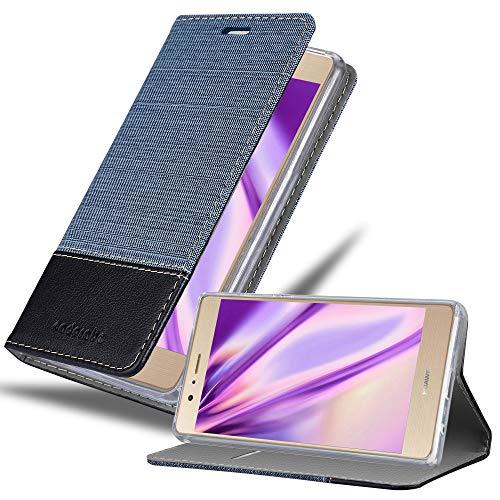 Cadorabo Funda Libro para Huawei P8 MAX en Azul Oscuro Negro - Cubierta Proteccíon con Cierre Magnético, Tarjetero y Función de Suporte - Etui Case Cover Carcasa