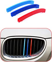 for 95-03 BMW 5 Series E39 (10Grilles one Side) 3D M Styling 3 Colors Front Grille Trim Motorsport Stripes Grill Cover Performance Stickers 3Pcs