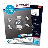 atFoliX Lámina Protectora de Pantalla Compatible con Canon PowerShot S3 IS Película Protectora, Ultra Transparente FX Lámina Protectora (3X)