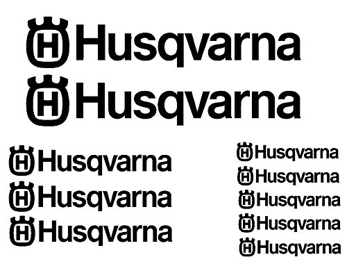 Schwarz 10Stück Aufkleber Aufkleber husqvarna-moto