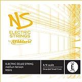Cuerda individual Mi mayor para violonchelo eléctrico NS de D'Addario, escala 4/4, tensión media.