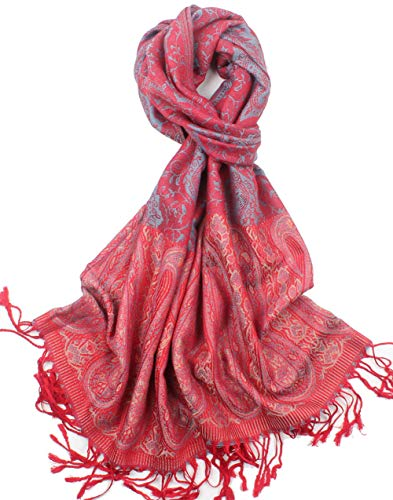 Women#039s Silky Paisley Pattern Pashmina Scarf Shawls and Wraps #10