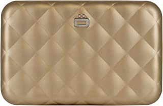 Ogon Quilted Zipper Wallet - Rose Gold