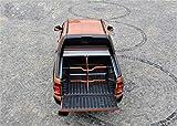 Cubierta de maletero Roll Cap con rejilla de separación y cierre centralizado Set para VW Amarok Canyon Double Cab en plata a partir de 2010