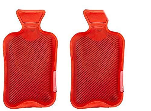 itsisa Taschenwärmer Wärmflasche, rot, 2er Set - Wichtelgeschenk, Handwärmer, Taschenheizkissen