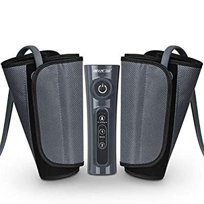 CINCOM Leg Massager for Circulation Air Compression Calf Wraps with 2 Modes 3 Intensities and Helpful for RLS and Edema from CINCOM