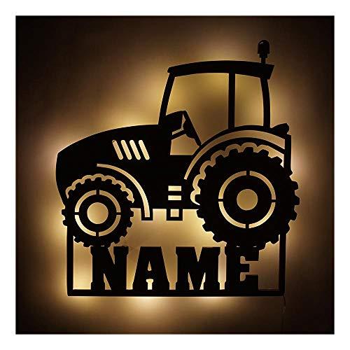 Schlummerlicht I Nachtlicht Traktor V4 personalisiert mit Namen für Kinder und Erwachsene