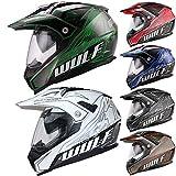 Wulfsport Adult Prima X Dual Double Visor Adventure Motocross Motorbike Helmet - Red