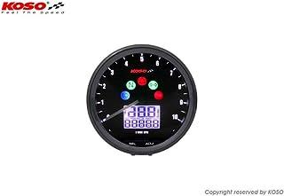 Contagiri KOSO GP Style II Digital rotondo nero 9000rpm
