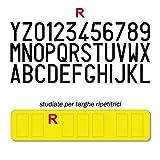 FRN Serie di Caratteri Adesivi per Targa Ripetitrice Carrello Trattore Rimorchio Alta fedeltà (Targa Ripetitrice)
