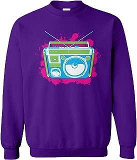 Neon Boombox - Retro Vintage 80's 90's Unisex Crewneck Sweatshirt