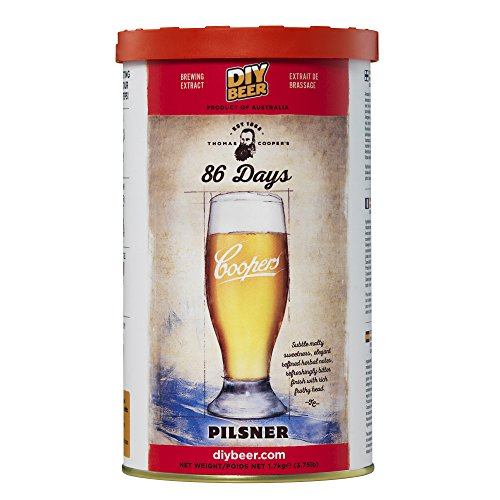 Coopers 86 de malta pilsen preparado día de la cerveza Pilsener kg 1,7 caseras