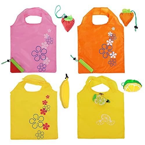 Bolsa plegable fácil para la vida, poliéster reutilizable bolsa de compras plegable...