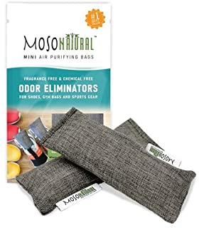 Mini Moso Natural Air Purifying Bag 2 Pack Bamboo Charcoal Air Freshener, Deodorizer, Odor Eliminator, Odor Absorber For S...