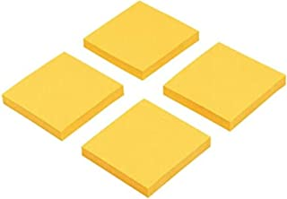 Sticky Notes, 3 x 3-Inches, 100 Sheets per Pad, 4 Pads per Pack (Golden)