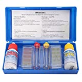 Guajave 1 Set Ph Cloro Agua de Calidad Kit de Prueba Hydrotool Kit de Prueba Accesorios para Piscina