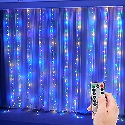 Amazon - 10% Off on Curtain String Lights for Bedroom, Window String Lights, USB Plug