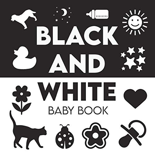 Black and White Baby Book: High Contrast Baby Book, Baby Faces Board Book, Black and White Board Book, Newborn Visual Stimulation Toys, High Contrast Baby Books, Sensory Flash Cards Baby