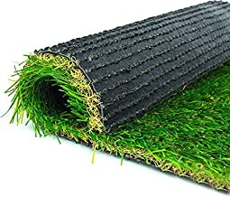 VIREO Plastic Artificial Grass Carpet Turf Mat (16 inch x 24 Inch, Green)