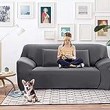 SearchI Funda elástica para sofá de 3 plazas, Cubierta Antideslizante en Tejido elástico Extensible, Protector del sofá, Color Gris(180-230cm)