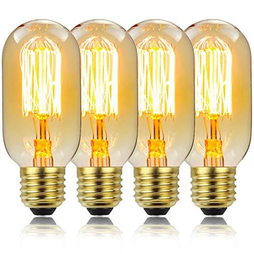 YING Bombilla De Luz Vintage Edison, Bombilla LED E27 Lámparas De Retro Bombillas De Luz Vintage 40W Luz Decorativa Blanca Cálida Ideal para En Casa, Paquete De 6,220V