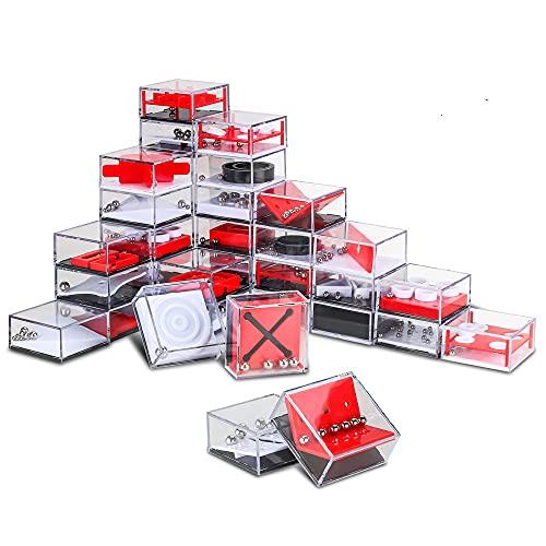 Mopoin 24 Pcs Mini Juegos Rompecabezas Set, Juego De Ompecabezas, Juego De Rompecabezas De Cumpleaños para Niños, Regalo para Navidad, Aliviar El Estrés